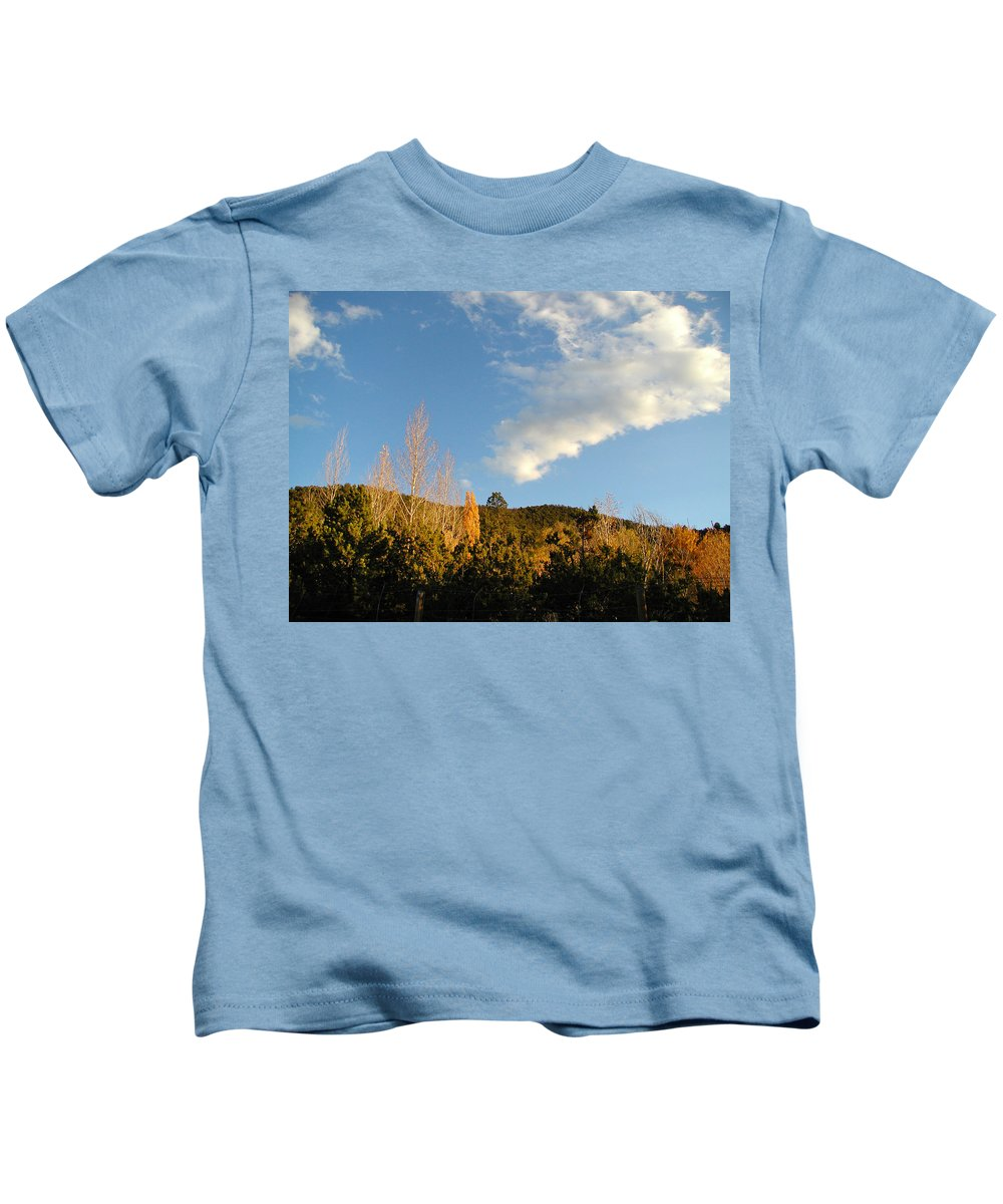 Landscape Kids T-Shirt featuring the photograph New Mexico Series - Santa Fe Landscape Autumn by Kathleen Grace