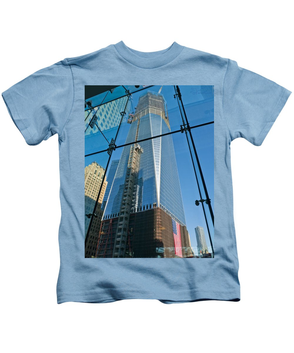 Nyc Kids T-Shirt featuring the photograph One Wtc Rising by S Paul Sahm
