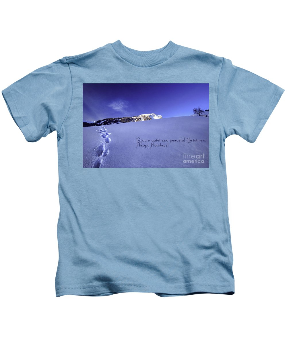 Winter Kids T-Shirt featuring the photograph Quiet And Peaceful Christmas by Sabine Jacobs