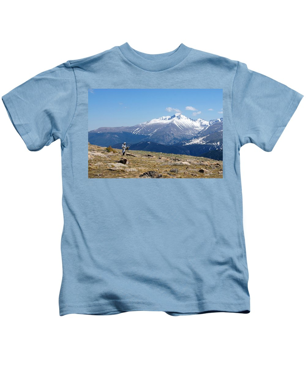 Mountain Kids T-Shirt featuring the photograph Rocky Mountain High by Alan Hutchins