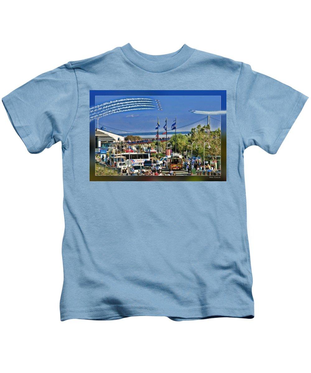 Art Photography Kids T-Shirt featuring the photograph San Francisco Fleet Week 2011 by Blake Richards