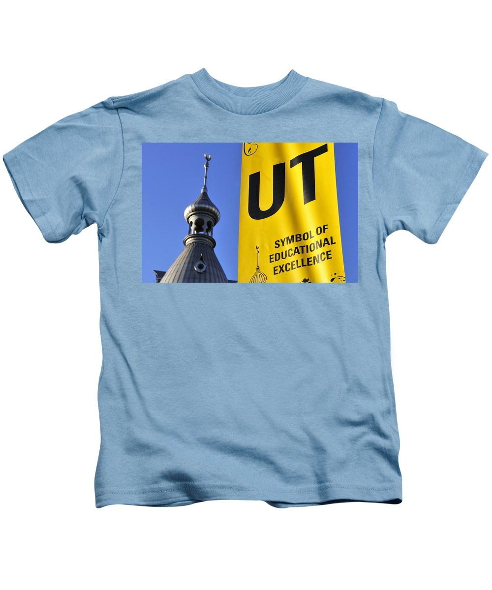 Fine Art Photography Kids T-Shirt featuring the photograph School Pride by David Lee Thompson