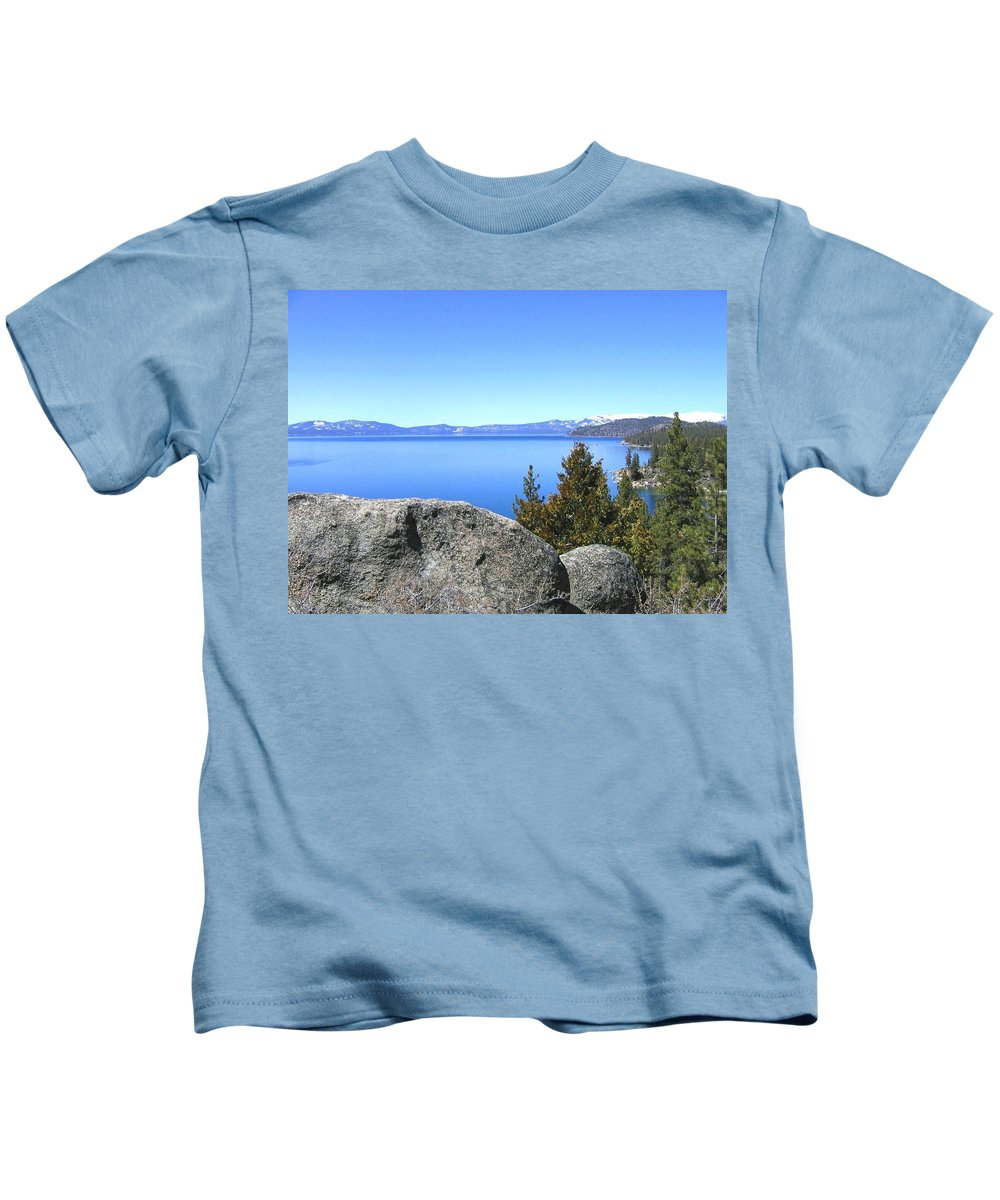 Lake Tahoe Kids T-Shirt featuring the photograph Splendid Lake Tahoe by Will Borden