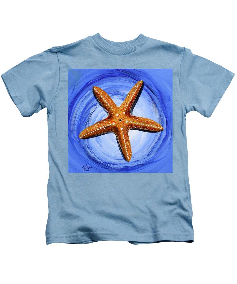 Starfish Kids T-Shirt featuring the painting Star Of Mary by J Vincent Scarpace