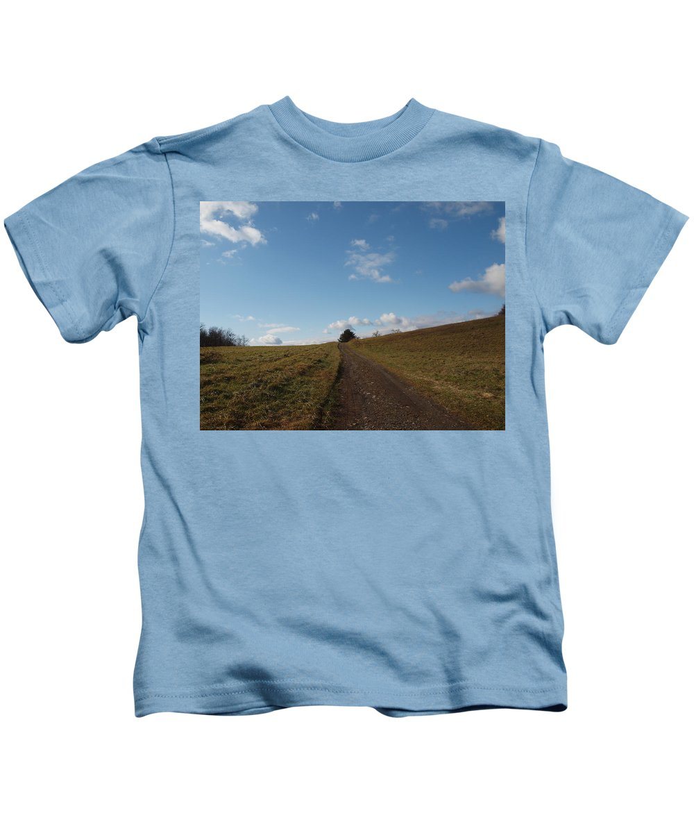 Farm Photographs Kids T-Shirt featuring the photograph The Road To Nowhere by Robert Margetts