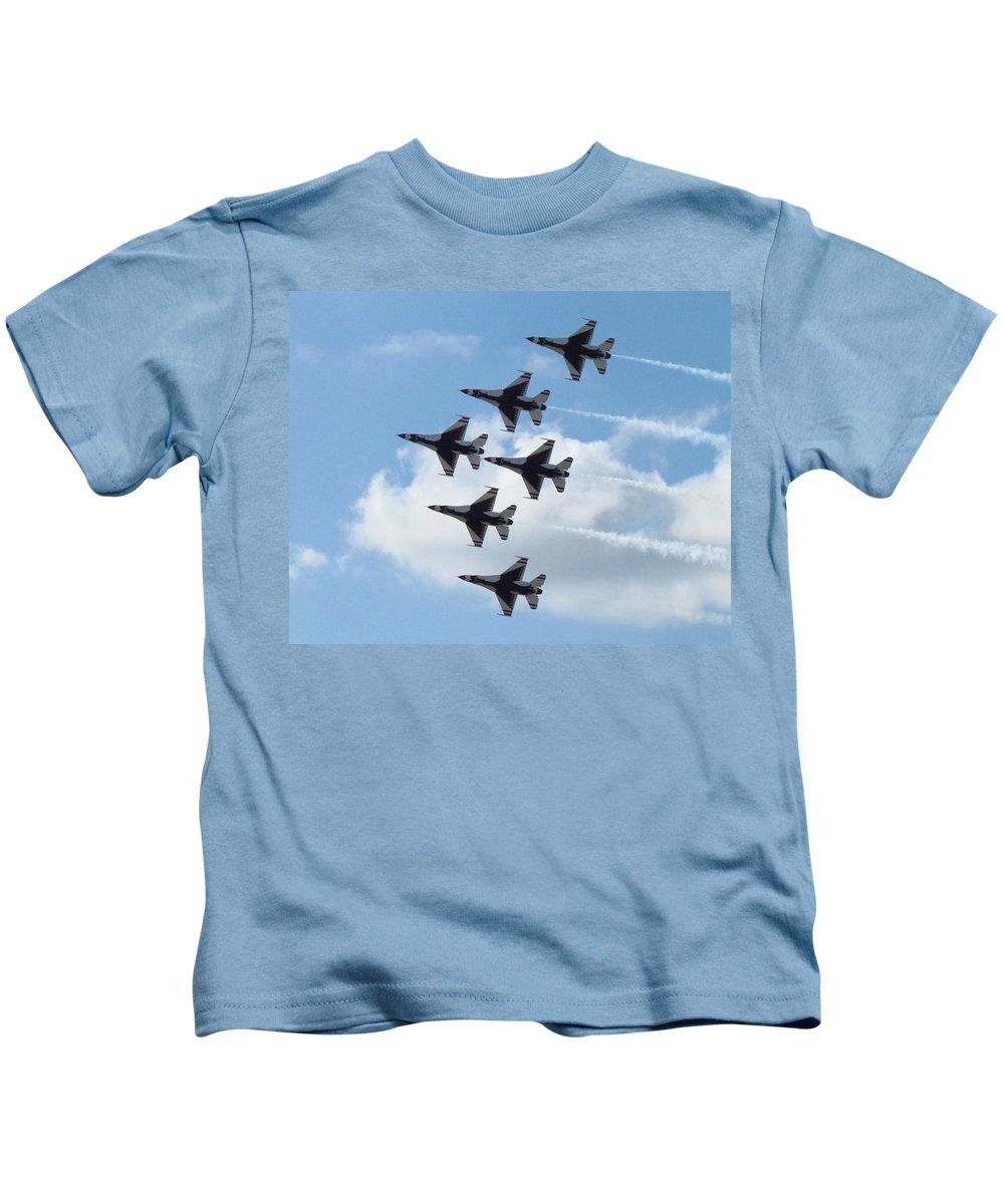 Thunderbirds Kids T-Shirt featuring the photograph Thunderbirds by Elizabeth Harshman