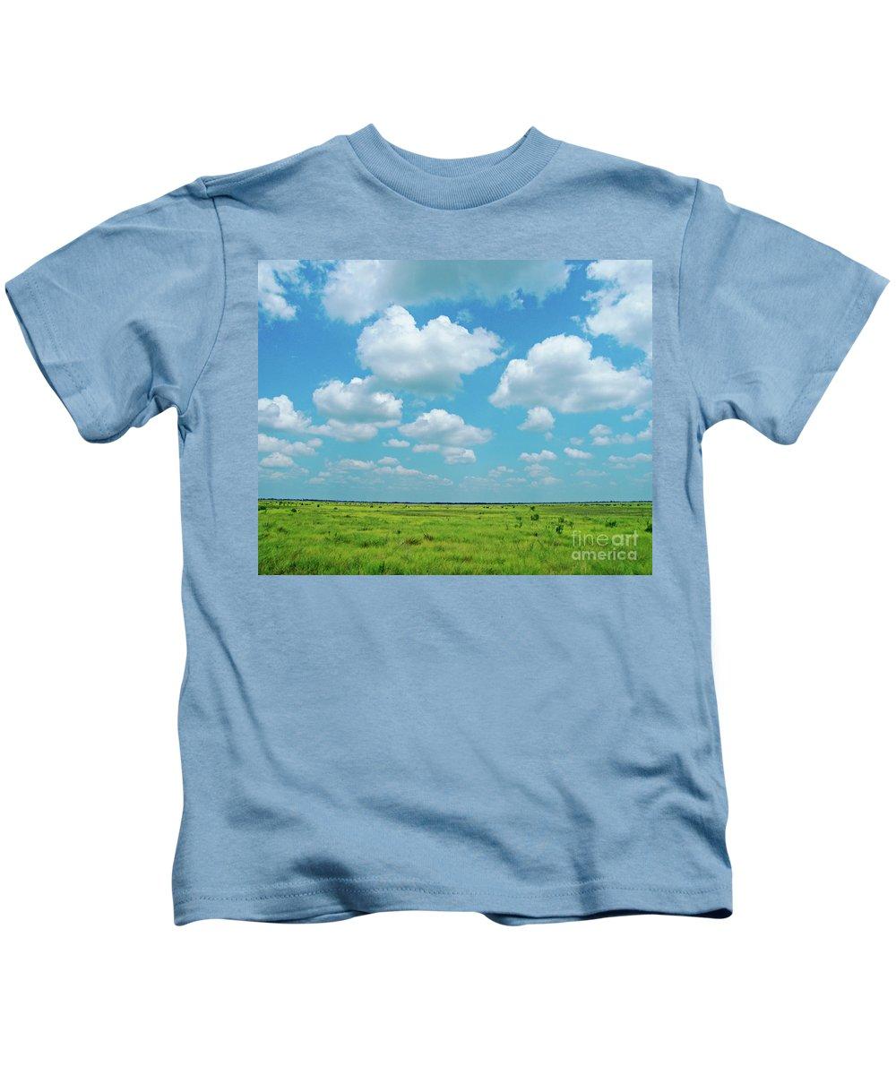 Sky Kids T-Shirt featuring the photograph Under The Texas Sky by Lizi Beard-Ward