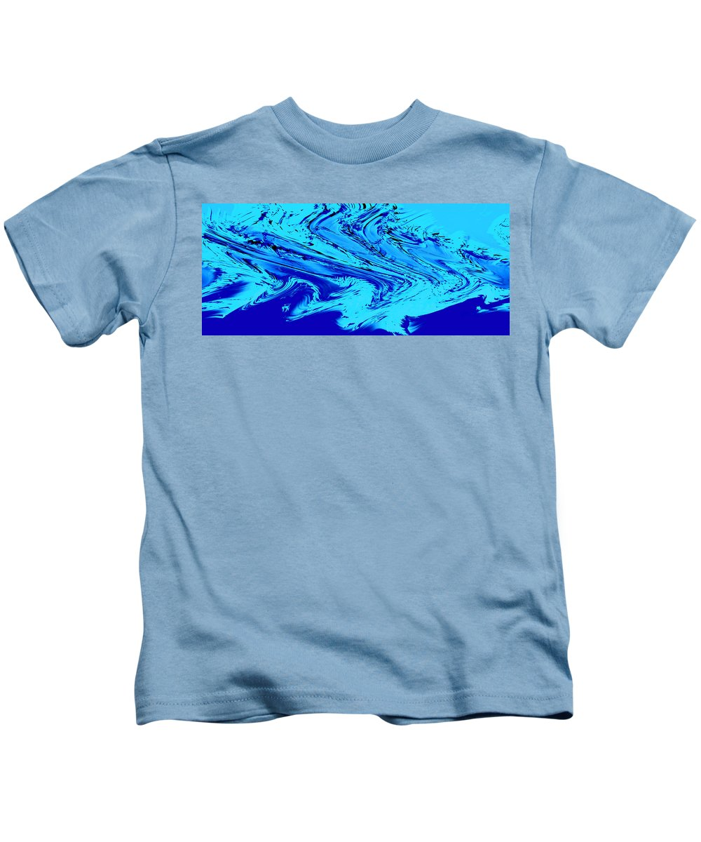 Abstract Kids T-Shirt featuring the photograph Waves Of Abstraction by DigiArt Diaries by Vicky B Fuller