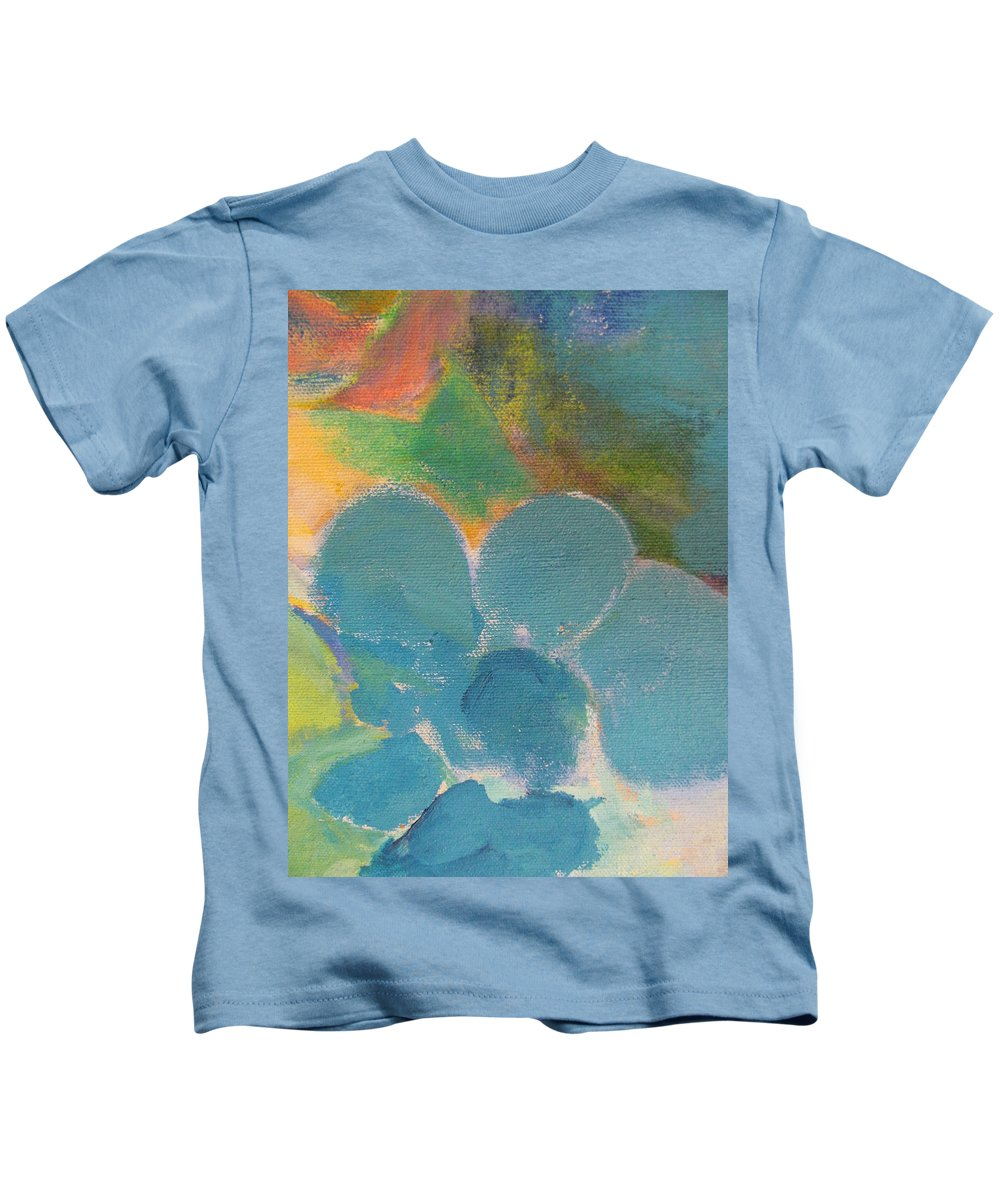 Abstact Kids T-Shirt featuring the painting Abstract Close Up 10 by Anita Burgermeister