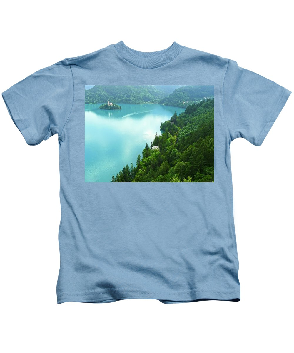 Island Kids T-Shirt featuring the photograph Bled by Daniel Csoka
