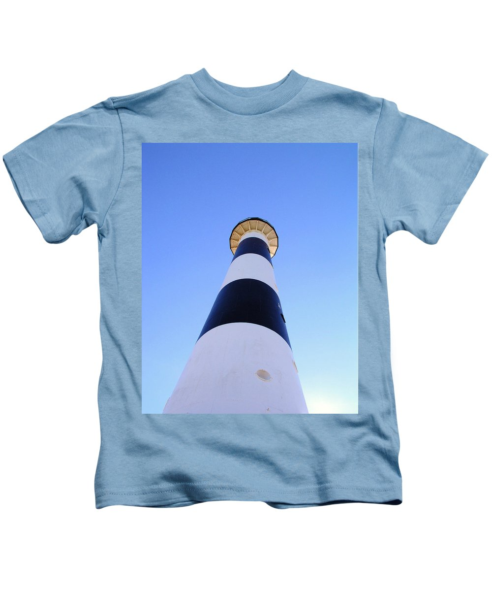 Cape; Canaveral; Light; Lighthouse; Lighthousekeeper; Keeper; Stairs; Kennedy; Space Center; Air For Kids T-Shirt featuring the photograph Canaveral Light by Allan Hughes