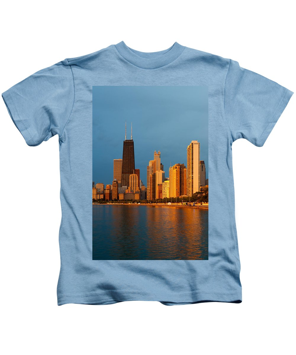 Chicago Kids T-Shirt featuring the photograph Chicago Skyline by Sebastian Musial