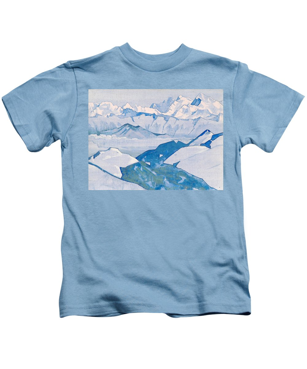 Country Kids T-Shirt featuring the painting Everest Range by Nicholas Roerich