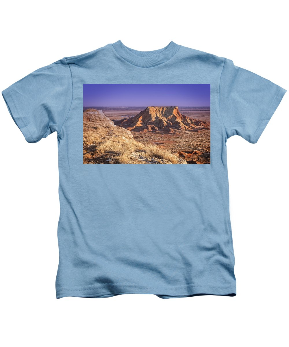 Gloss Kids T-Shirt featuring the photograph Gloss Mountains by Ricky Barnard