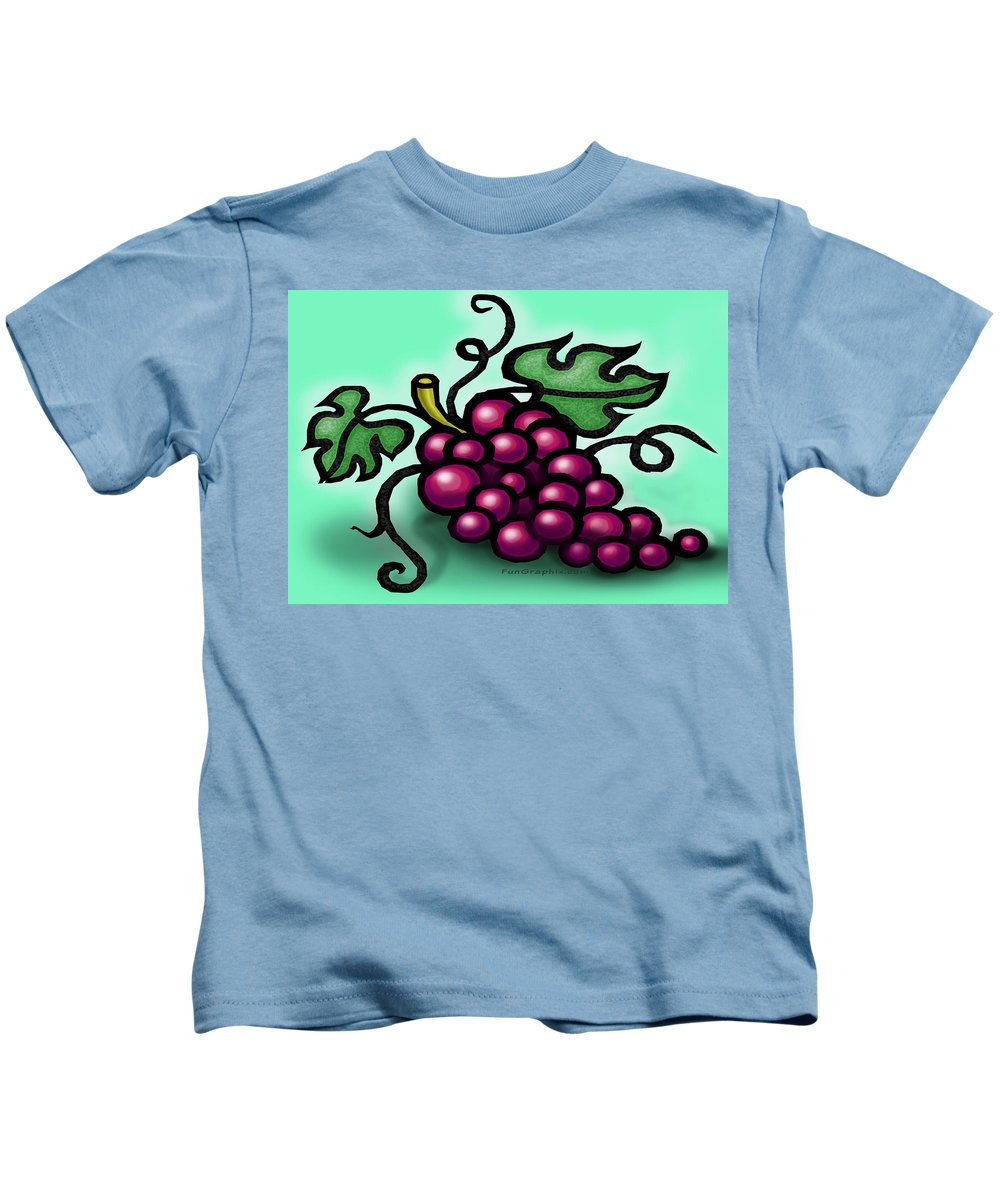 Grape Kids T-Shirt featuring the greeting card Grapes by Kevin Middleton
