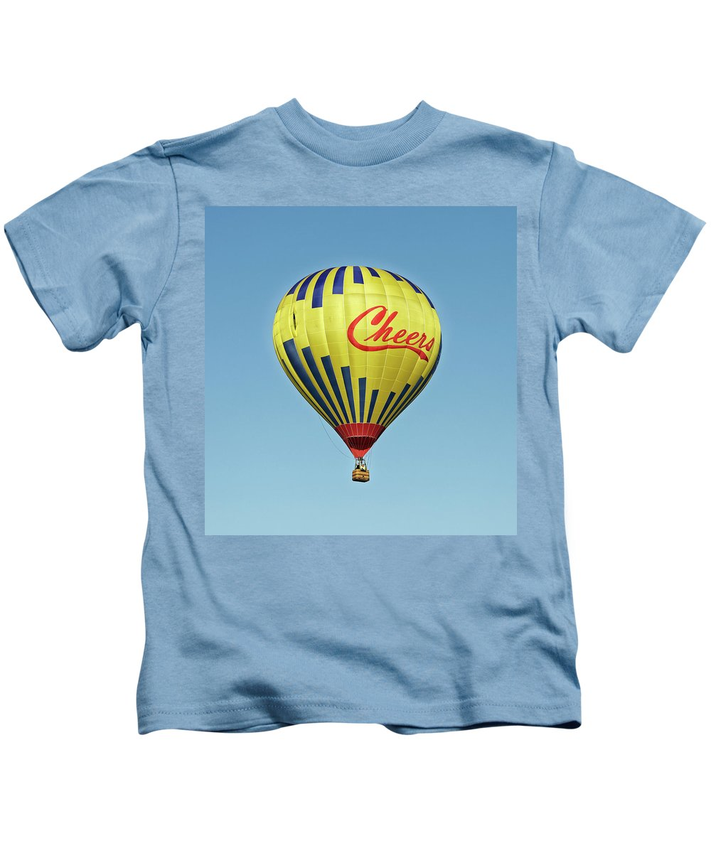 Balloons Kids T-Shirt featuring the photograph Hot Air Balloon by Robert Urwyler