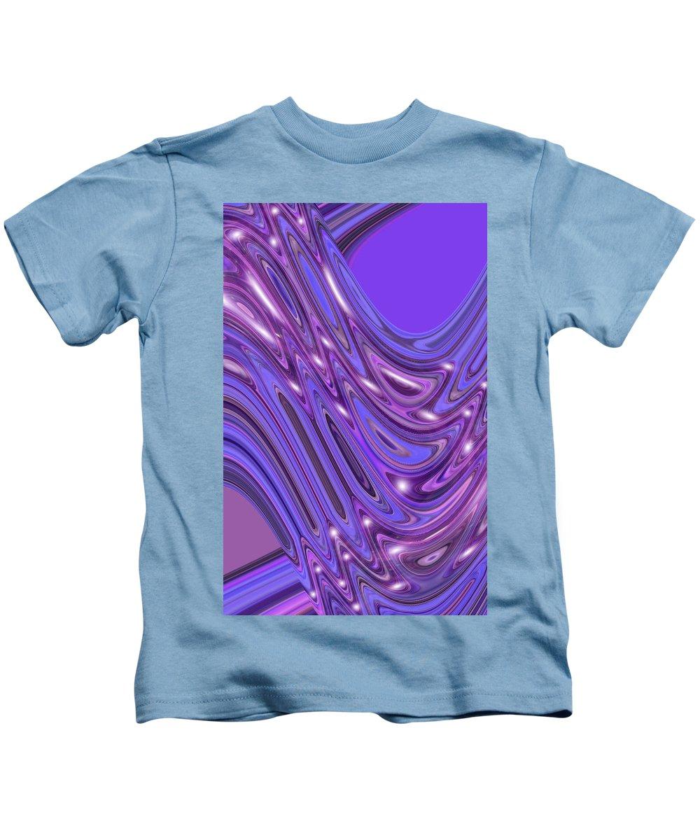Moveonart! Digital Gallery Kids T-Shirt featuring the digital art Moveonart Waves Of Interpretation by Jacob Kanduch