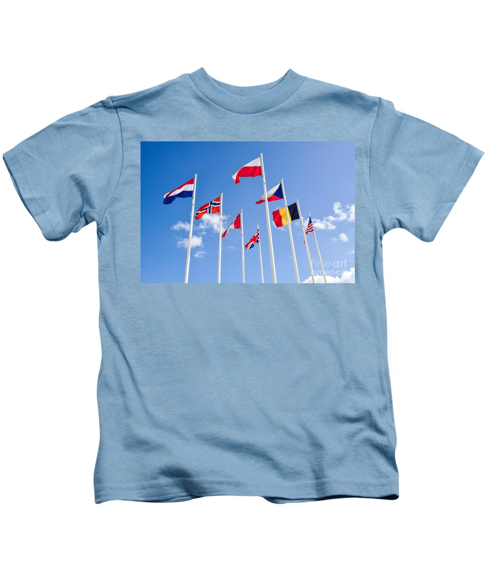 Allies Kids T-Shirt featuring the photograph Musee Du Debarquement D-day Museum by Kayme Clark