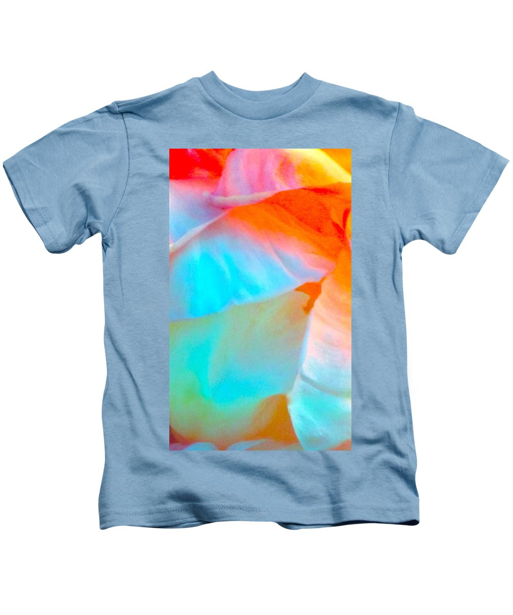 Photograph Kids T-Shirt featuring the photograph Petals by Gwyn Newcombe
