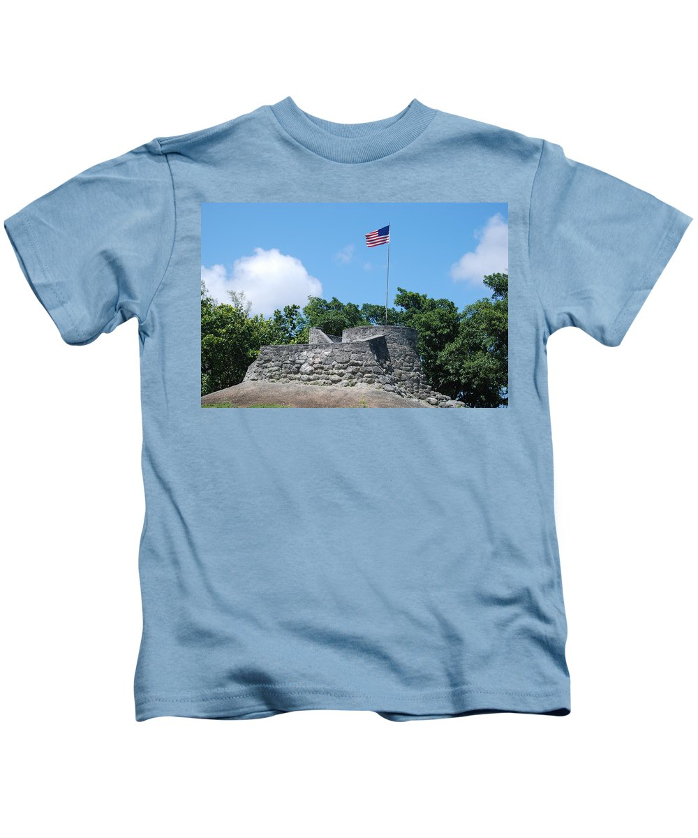 American Flag Kids T-Shirt featuring the photograph The Stand by Rob Hans