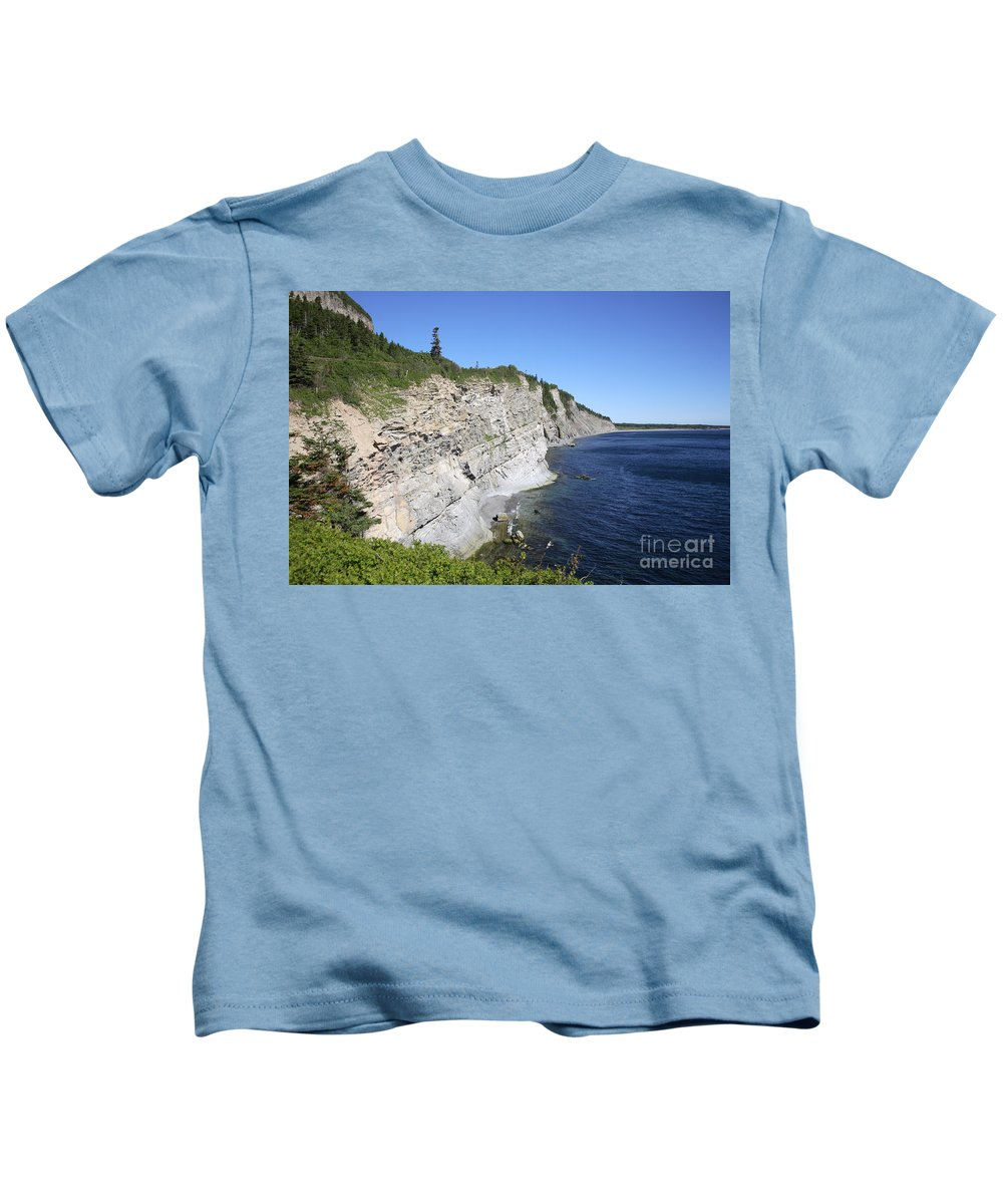 Forillon Kids T-Shirt featuring the photograph Forillon National Park by Ted Kinsman