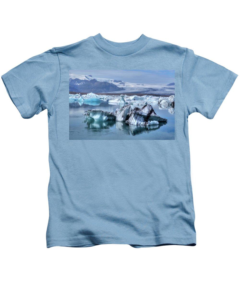 Jokulsarlon Kids T-Shirt featuring the photograph Jokulsarlon - Iceland by Joana Kruse