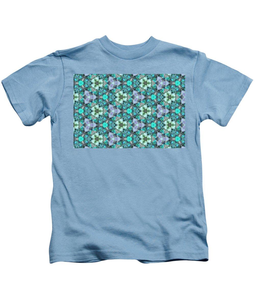 Marjan Mencin Kids T-Shirt featuring the digital art Arabesque 112 by Marjan Mencin