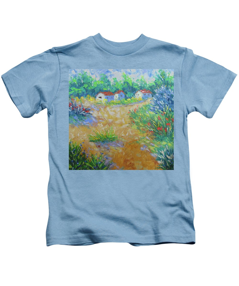 Frederic Payet Kids T-Shirt featuring the painting Provence by Frederic Payet