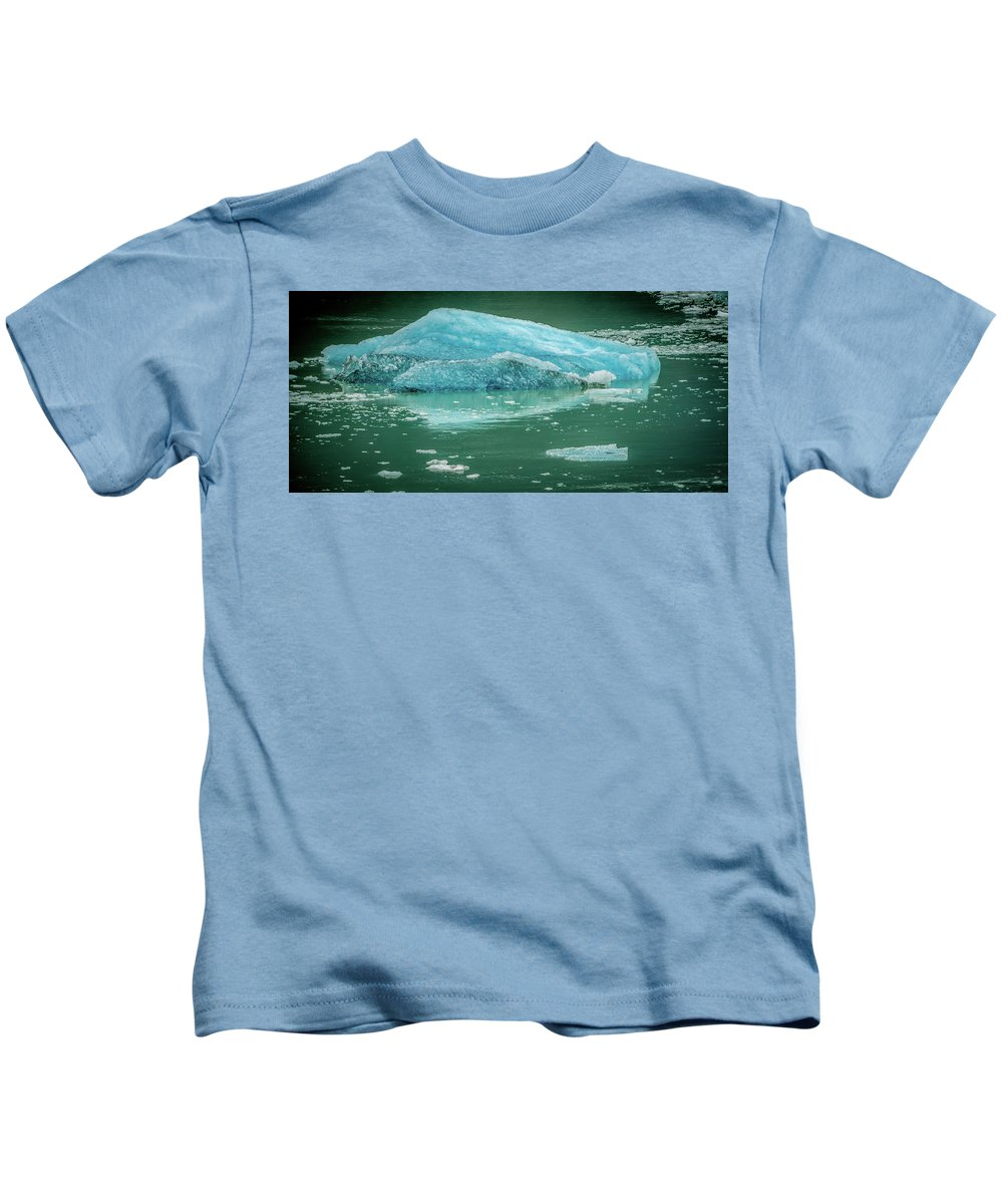Glacier Kids T-Shirt featuring the photograph Magnificent Sawyer Glacier At The Tip Of Tracy Arm Fjord by Alex Grichenko