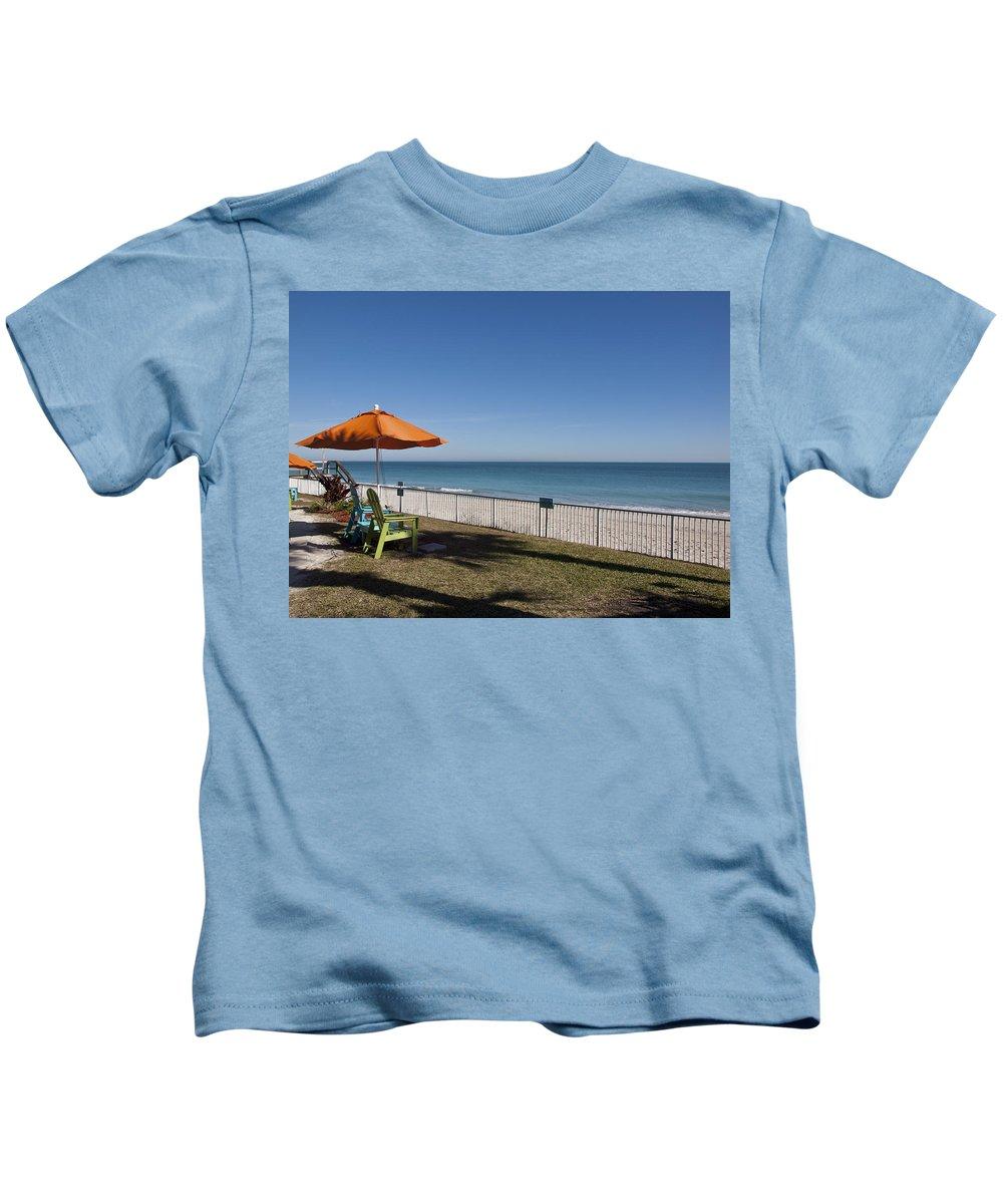 Florida Kids T-Shirt featuring the photograph Beachland Boulevard At Vero Beach In Florida by Allan Hughes