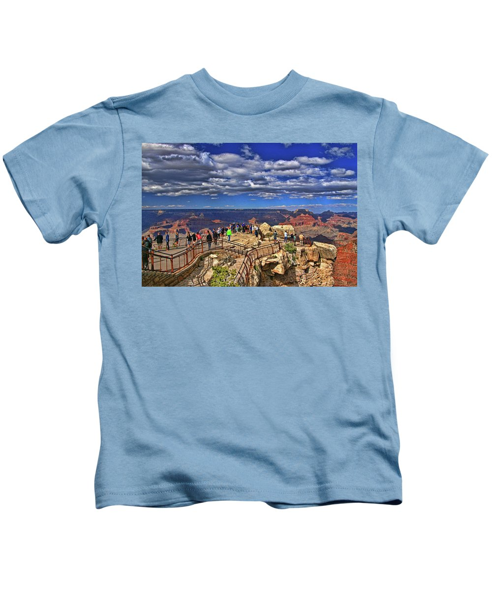 Grand Canyon Kids T-Shirt featuring the photograph Grand Canyon # 4 - Mather Point Overlook by Allen Beatty