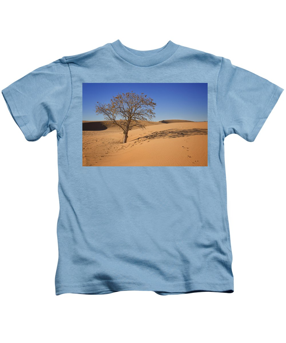 Tree Kids T-Shirt featuring the photograph Little Sahara by Ricky Barnard