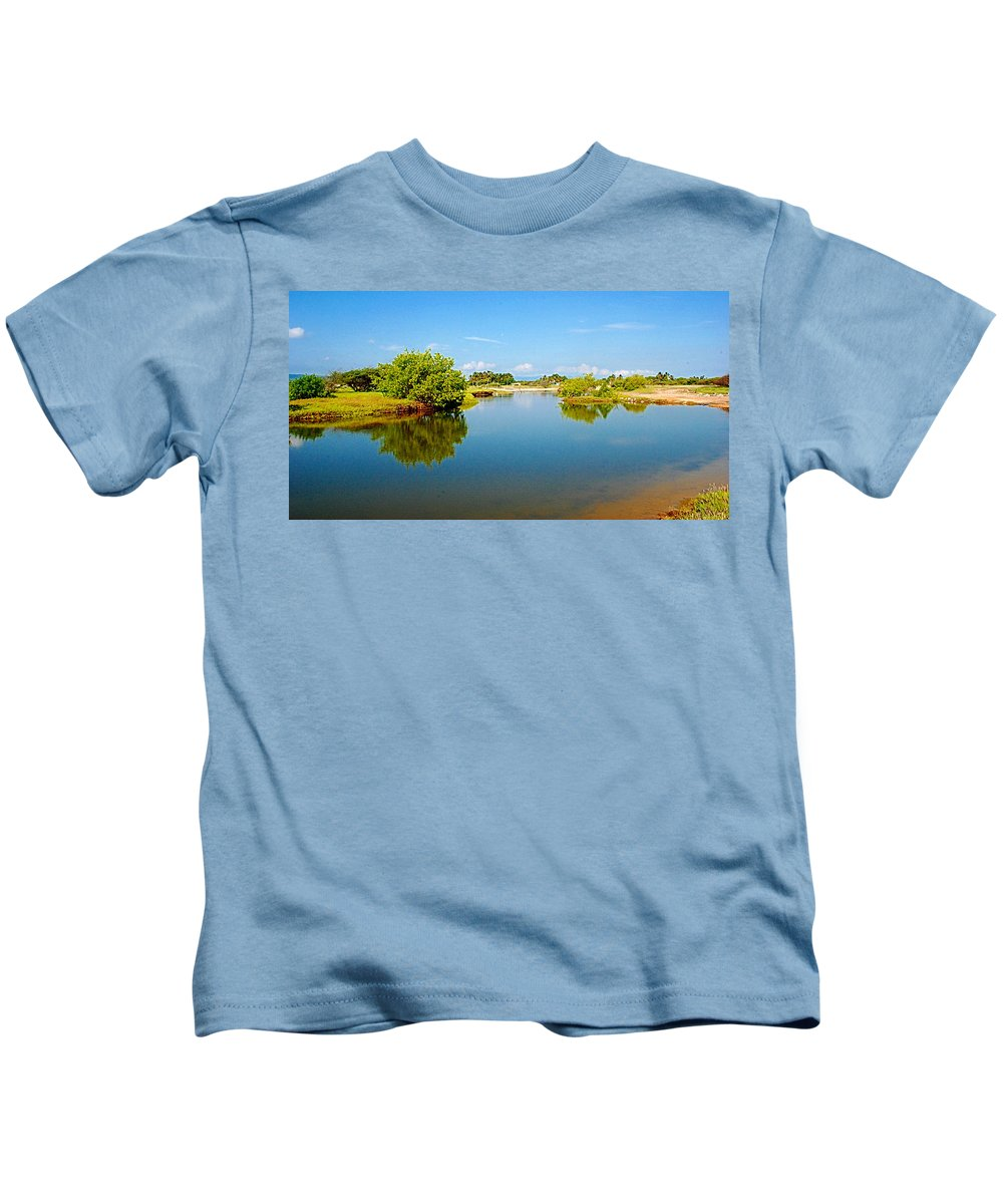 Reflects Kids T-Shirt featuring the photograph Reflects by Galeria Trompiz