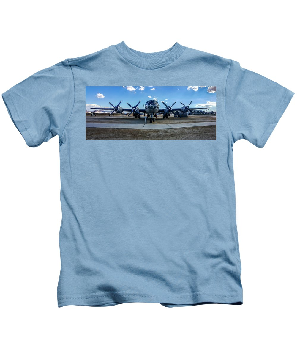 Boeing B-29 Superfortress Kids T-Shirt featuring the photograph Superfortress by Tommy Anderson