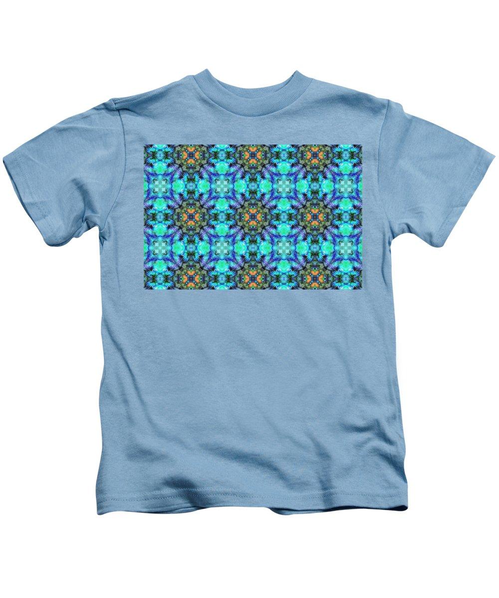 Marjan Mencin Kids T-Shirt featuring the digital art Arabesque 106 by Marjan Mencin