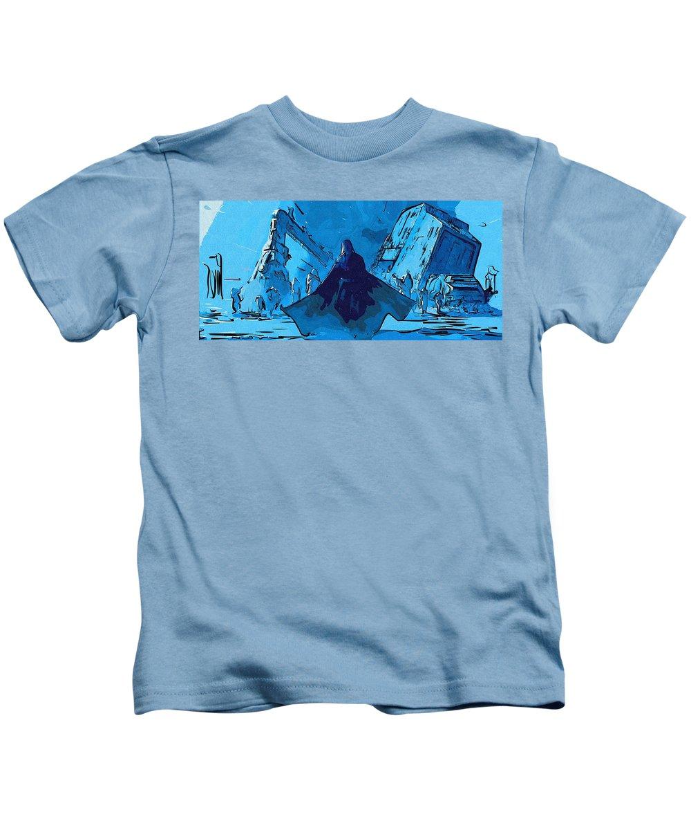 Star Wars Kids T-Shirt featuring the digital art Star Wars Episode 1 Art by Larry Jones
