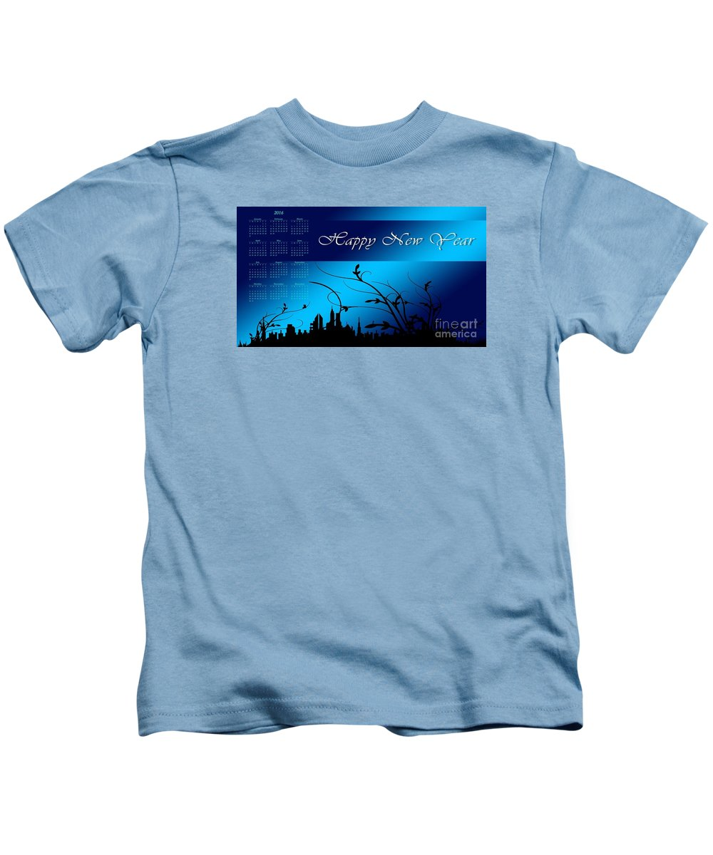Witchcraft Kids T-Shirt featuring the digital art New Year by Frederick Holiday