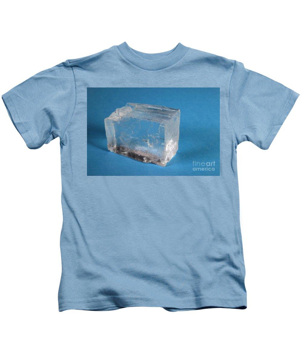 Halite Kids T-Shirt featuring the photograph Rock Salt by Ted Kinsman