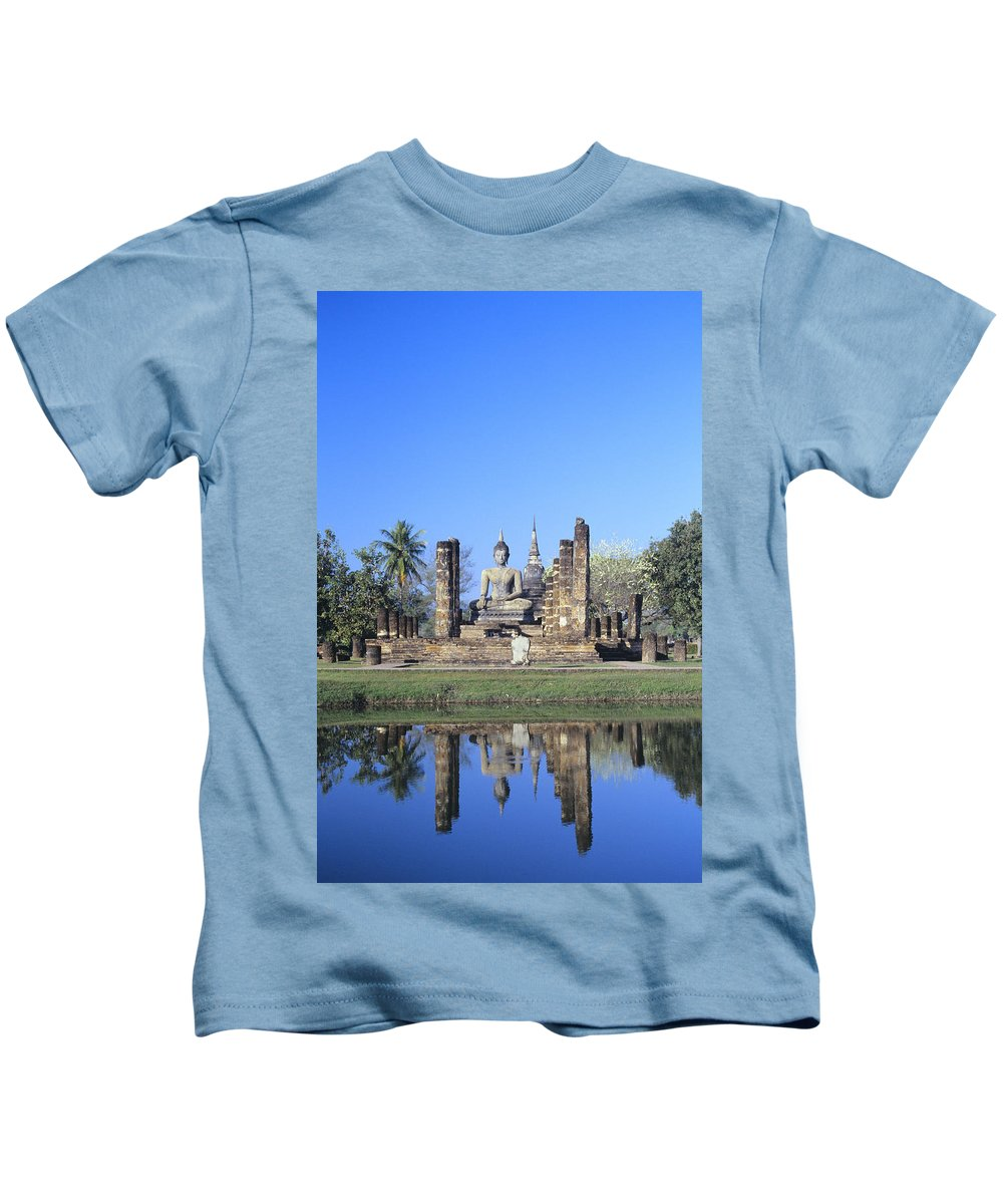 Ancient Kids T-Shirt featuring the photograph Wat Mahathat by Gloria & Richard Maschmeyer - Printscapes