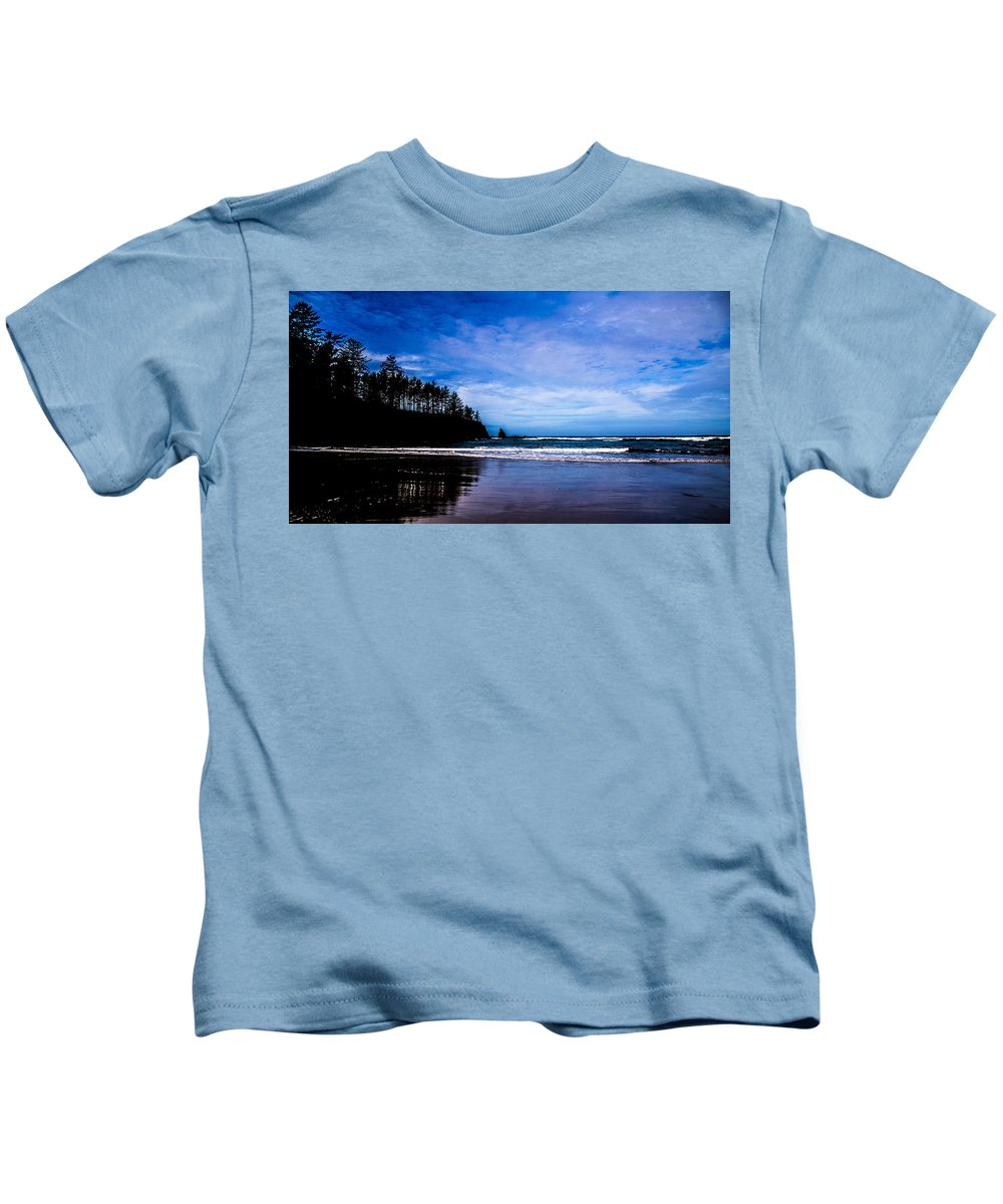 Kids T-Shirt featuring the photograph Private Beach Bastendorff by Angus Hooper Iii