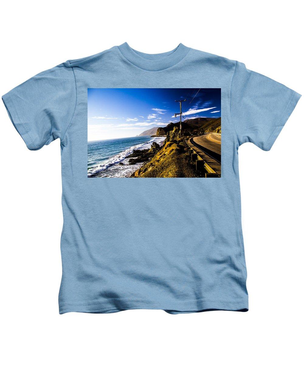 Kids T-Shirt featuring the photograph Ca Beach by Angus Hooper Iii