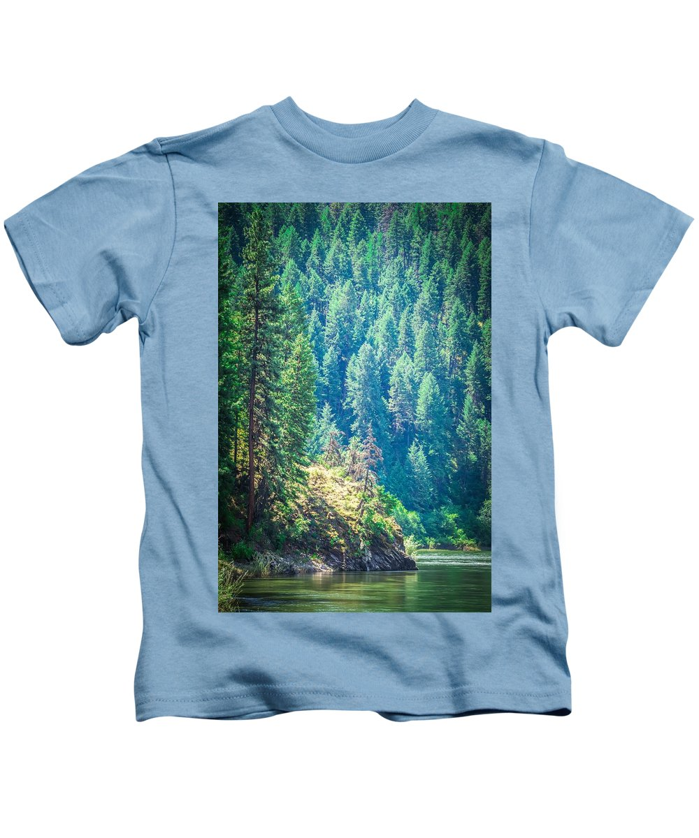 Landscape Kids T-Shirt featuring the photograph Vast Scenic Montana State Landscapes And Nature by Alex Grichenko