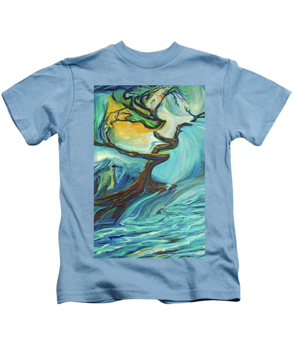 Landscape Kids T-Shirt featuring the painting A Healing Earth by Jennifer Christenson