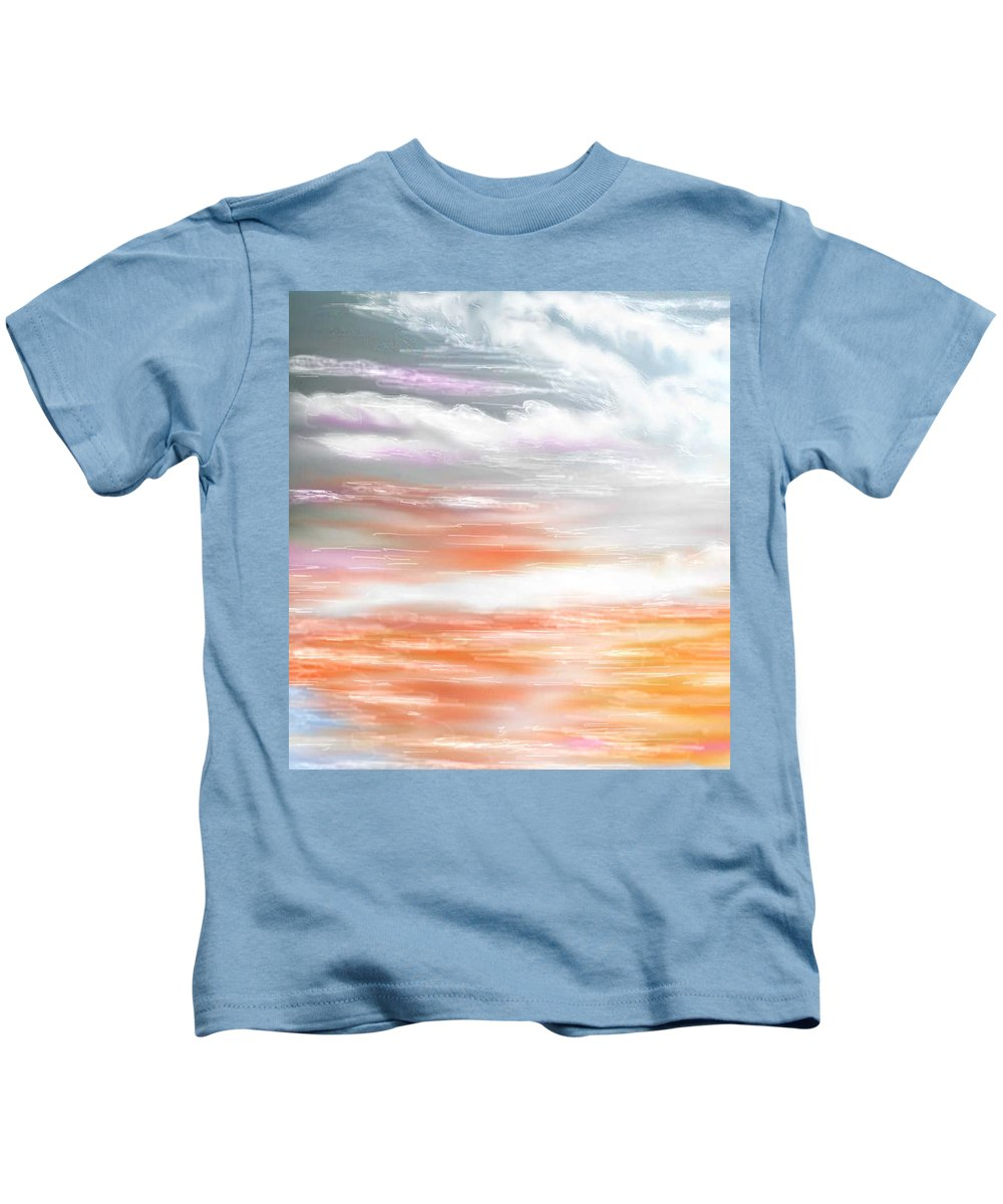 Inspirational Art Kids T-Shirt featuring the digital art A Light Unto My Path by Brenda L Spencer