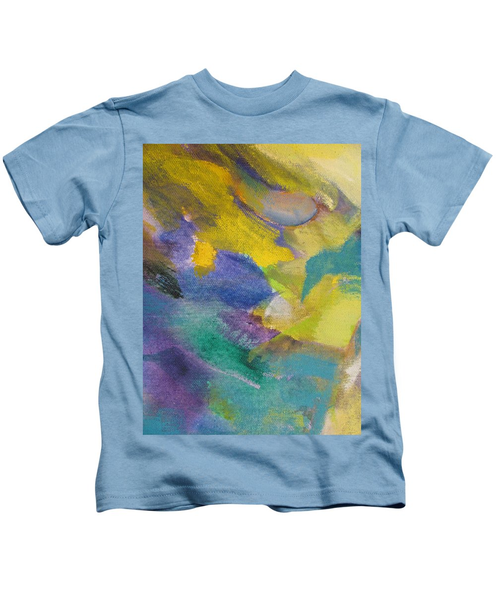 Abstact Kids T-Shirt featuring the painting Abstract Close Up 13 by Anita Burgermeister