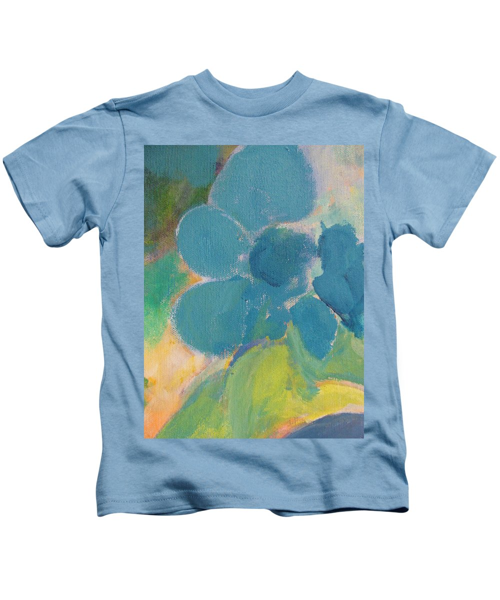 Abstact Kids T-Shirt featuring the painting Abstract Close Up 9 by Anita Burgermeister