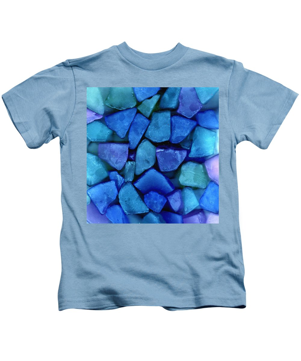 Glass Kids T-Shirt featuring the photograph Abstract In Glass by Wayne Potrafka