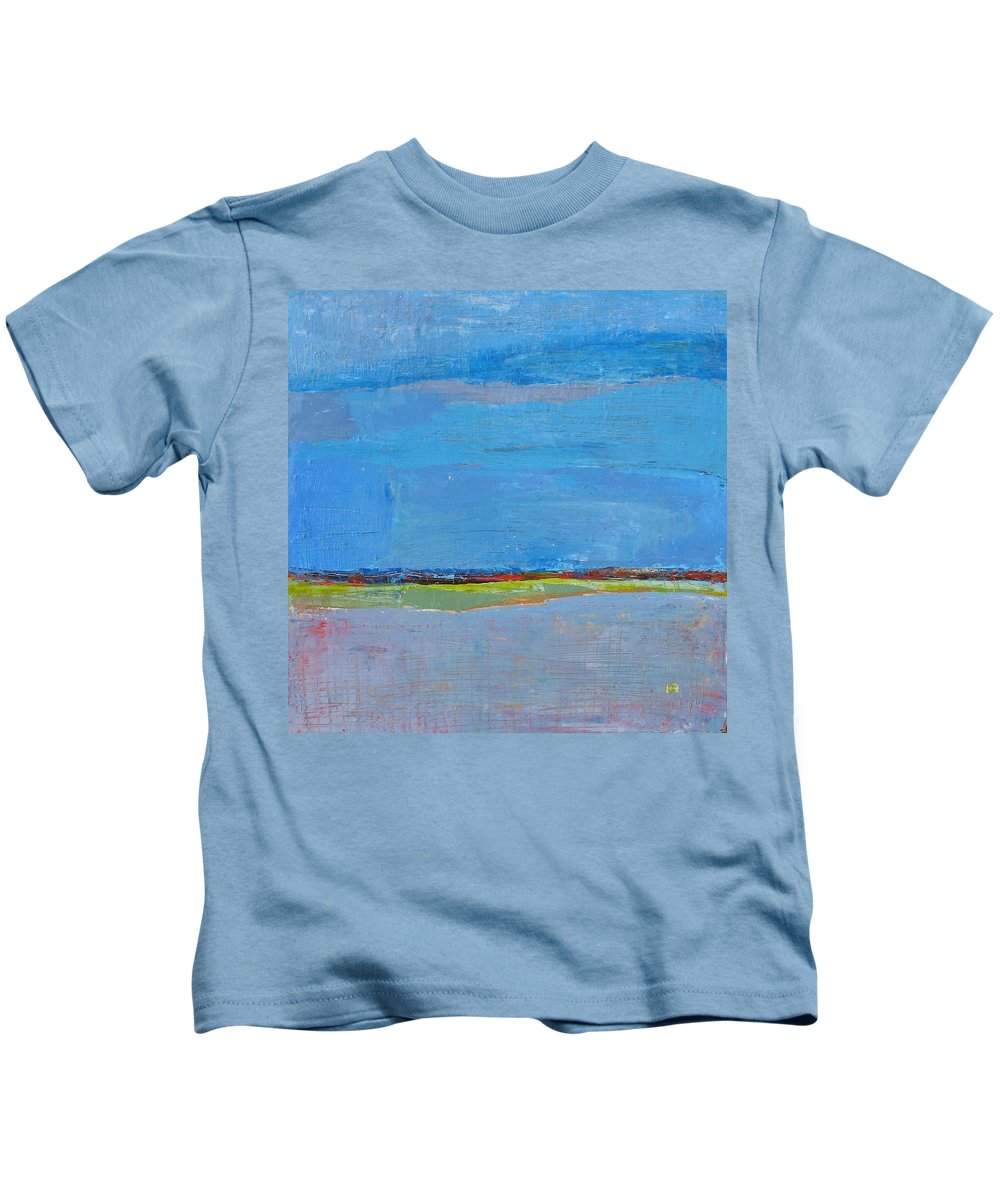 Kids T-Shirt featuring the painting Abstract Landscape1 by Habib Ayat