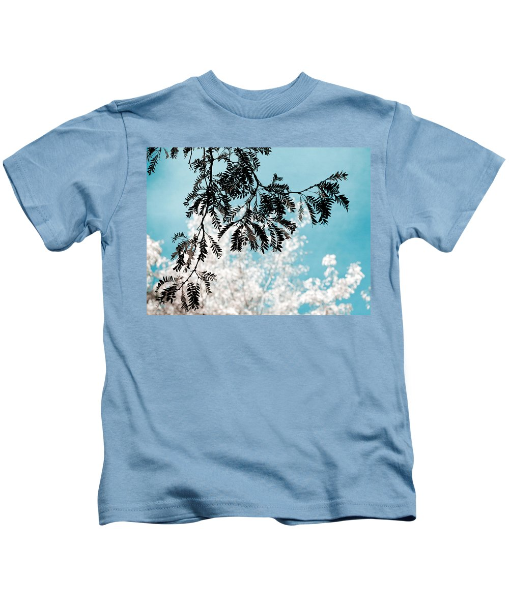 Tree Kids T-Shirt featuring the photograph Abstract Locust by Marilyn Hunt