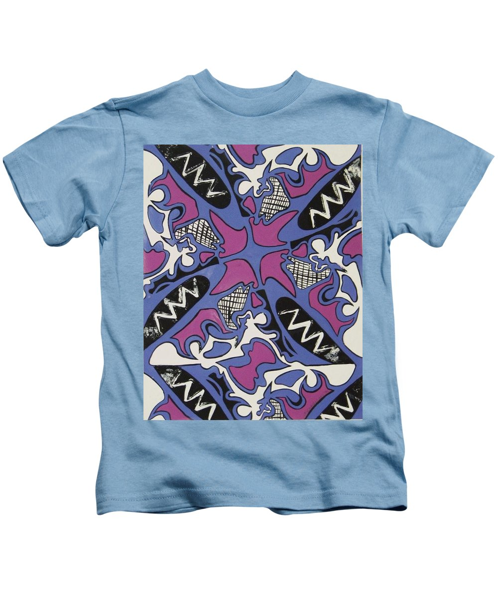 Pattern Kids T-Shirt featuring the painting Abstract Pattern by Jamey Balester